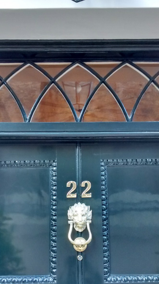 A beautiful Georgian fanlight detail on Charles Street in Mayfair, London