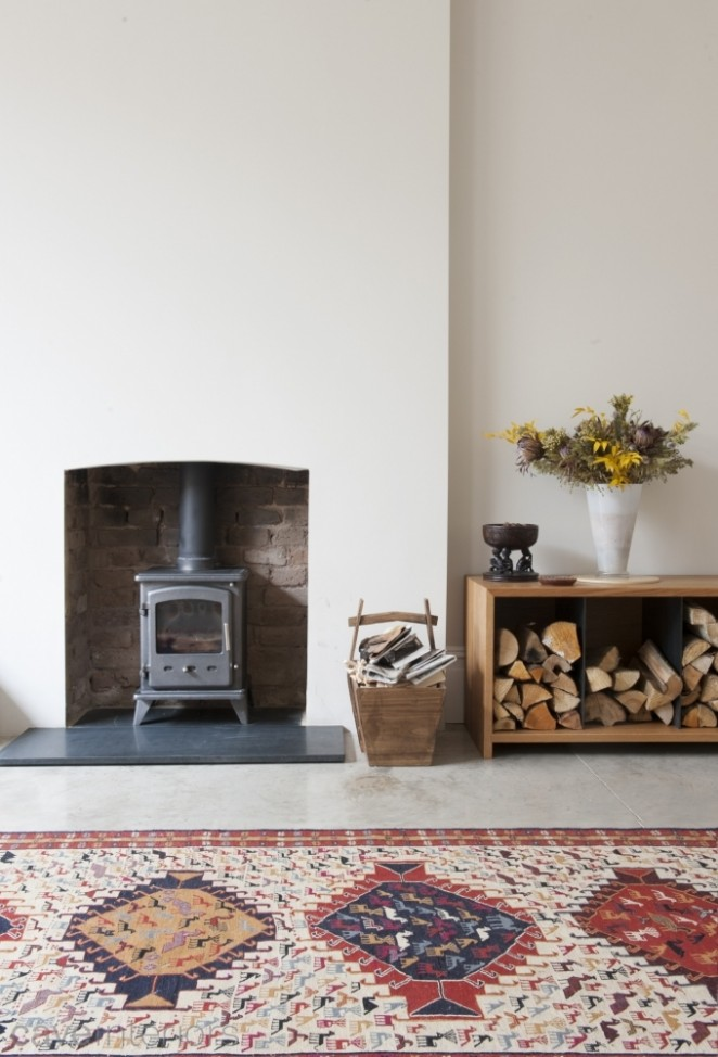 Belsize Park house with woodburning stove