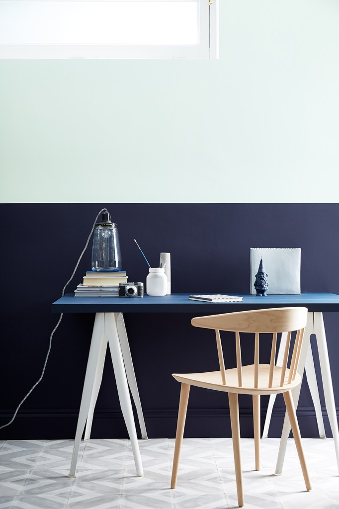 Dock-Blue 252 and Celestial White 262 by Little Greene