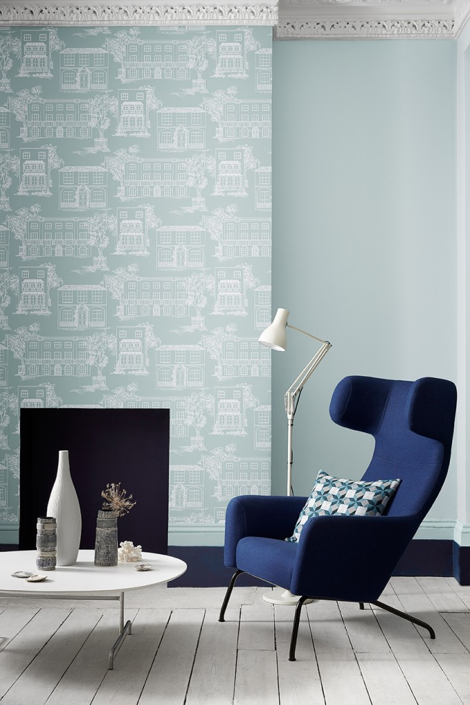 Hampstead Penumbra and Celestial Blue 101 by Little Greene