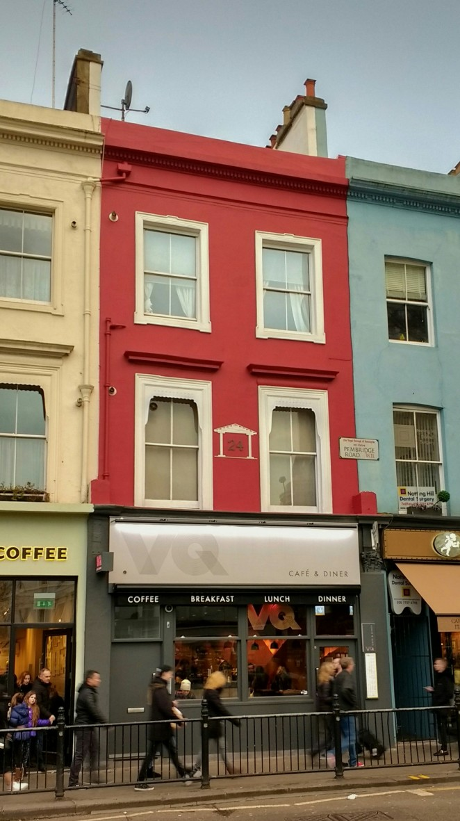 Facade of VQ in Notting Hill